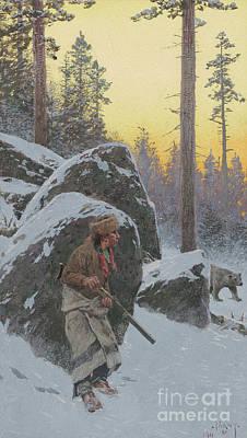 The Indian Bear Hunter, 1911 Art Print