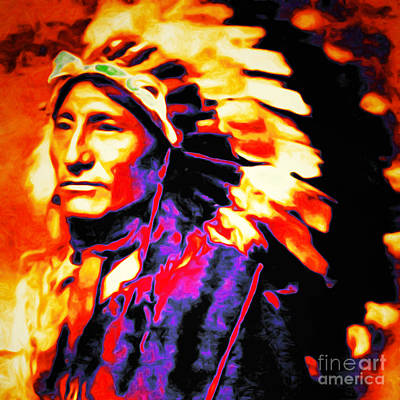 Photograph - The Indian Chief 20151227 Square by Wingsdomain Art and Photography