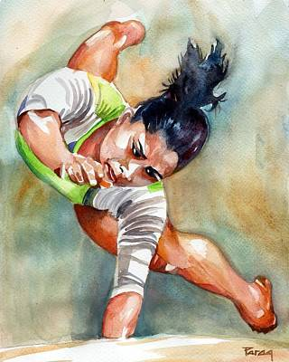 Painting - The Indian Gymnast by Parag Pendharkar