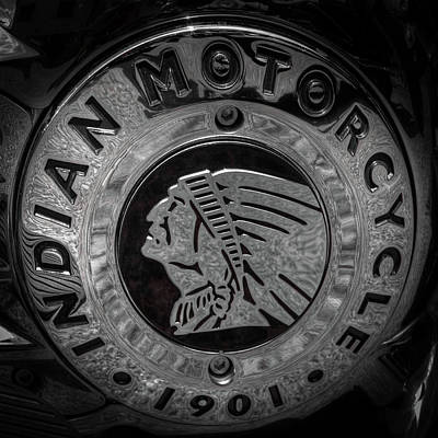 Photograph - The Indian Motorcycle Logo by David Patterson