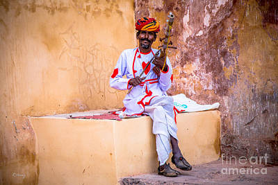Photograph - The Indian Musician  by Rene Triay Photography