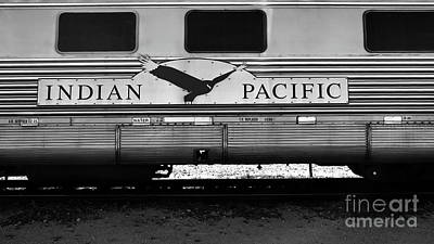 Photograph - The Indian Pacific Bw by Tim Richards