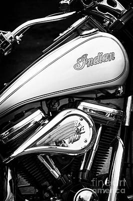 Photograph - The Indian Scout Monochrome by Tim Gainey