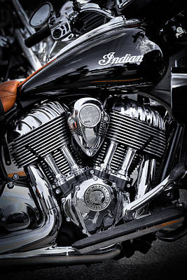 Photograph - The Indian Springfield Motorcycle by David Patterson