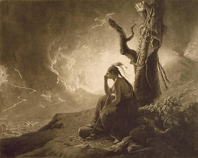 After Photograph - The Indian Widow by Joseph Wright of Derby