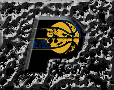 Indiana Pacers Mixed Media - The Indiana Pacers 1a by Brian Reaves