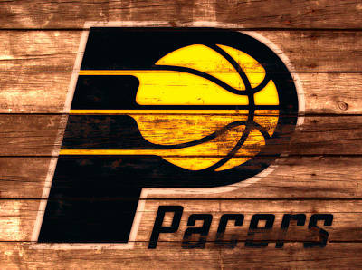 Indiana Pacers Mixed Media - The Indiana Pacers 3a by Brian Reaves