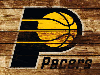 Indiana Pacers Mixed Media - The Indiana Pacers 3c by Brian Reaves