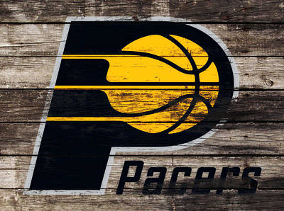 Indiana Pacers Mixed Media - The Indiana Pacers 3e by Brian Reaves