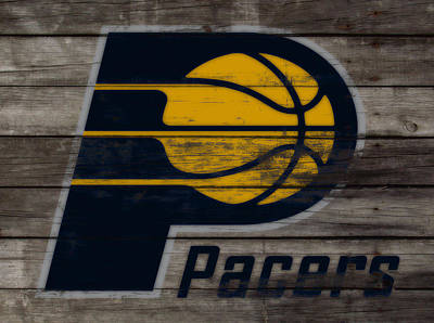 Indiana Pacers Mixed Media - The Indiana Pacers 3h by Brian Reaves