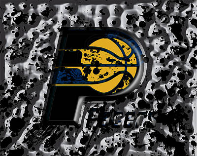 John Stockton Mixed Media - The Indiana Pacers by Brian Reaves