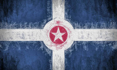Digital Art - The Indianapolis Flag by JC Findley