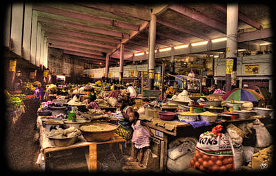 Photograph - The Indoor Market At Guinea Conakry by Wayne King