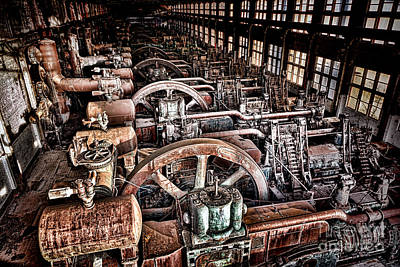 Machinery Photograph - The Industrial Age by Olivier Le Queinec