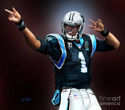 Painting - The Inevitable Cam Newton1 by Reggie Duffie