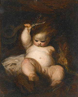 Joshua Reynolds Painting - The Infant Hercules by Joshua Reynolds