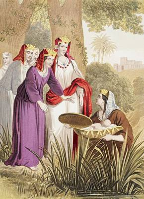 Bulrush Drawing - The Infant Moses Is Found In The by Vintage Design Pics