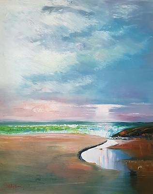 Painting - The Inlet by Kathy  Karas