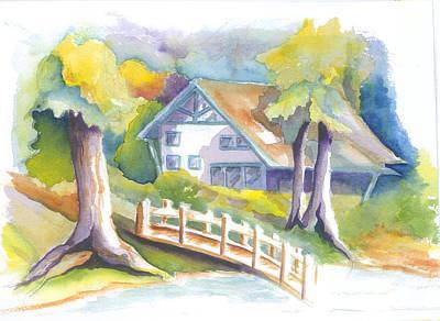The Inn Art Print by KC Winters