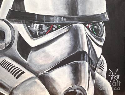 Storm Trooper Painting - The Innocent Bystander by Tyler Haddox