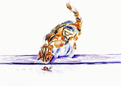 the Inquisitive Cat Original by Debra Hall