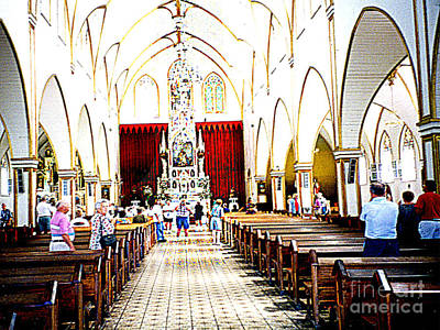 Photograph - The Inside Of The Great Costa Rico Cathedral by Merton Allen