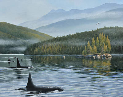 Painting - The Inside Passage by Jake Vandenbrink