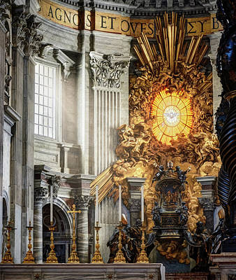 Photograph - The Interior Of St. Peter's Basilica In Rome by Eduardo Jose Accorinti