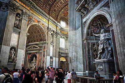 Photograph - The Interior Of St. Peter's Basilica In The Vatican by Eduardo Jose Accorinti