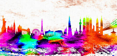 Berlin Mixed Media - The International Skyline by Daniel Janda