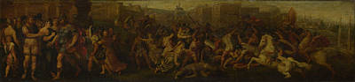The Intervention Of The Sabine Women Art Print by Follower of Giulio Romano