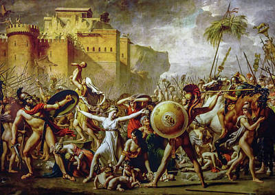 Chateau Painting - The Intervention Of The Sabine Women by Jacques-Louis David