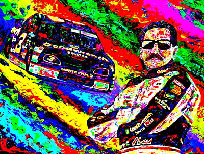 Dale Earnhardt Painting - The Intimidator by Mike OBrien