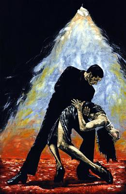 Shadow Dancing Painting - The Intoxication Of Tango by Richard Young