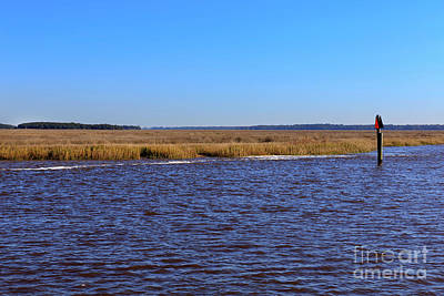 The Intracoastal Waterway In The Georgia Low Country In Winter Art Print by Louise Heusinkveld