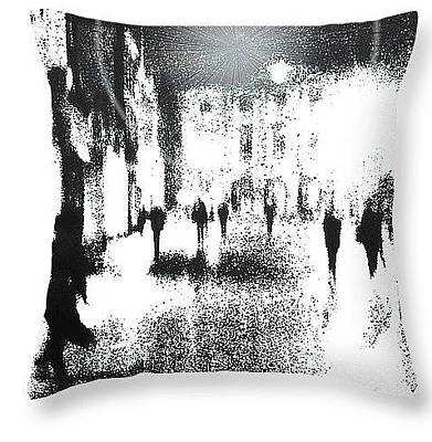 Digital Art - The Invaders Throw Pillow  by Fine Art By Andrew David