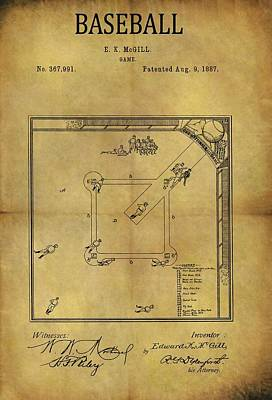Athletes Drawings - The Invention Of Baseball by Dan Sproul