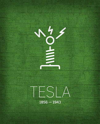 Planets Mixed Media - The Inventors Series 002 Tesla by Design Turnpike