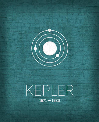 Planets Mixed Media - The Inventors Series 003 Kepler by Design Turnpike