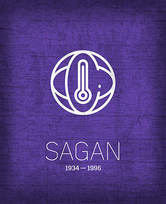 The Inventors Series 005 Sagan Art Print by Design Turnpike
