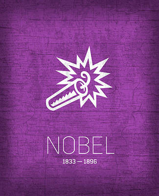 The Inventors Series 006 Nobel Art Print by Design Turnpike