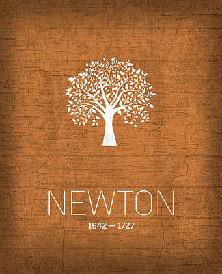 Planets Mixed Media - The Inventors Series 010 Newton by Design Turnpike
