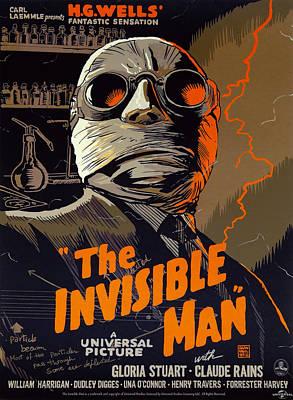 Gloria Digital Art - The Invisible Man Theater Lobby Ad  1933 by Daniel Hagerman