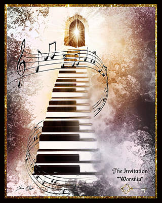 Digital Art - The Invitation- Worship by Jennifer Page