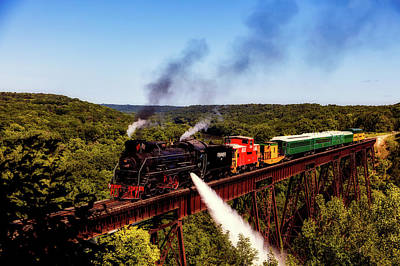 Photograph - The Iowa Boone And Scenic Valley Railroad by L O C