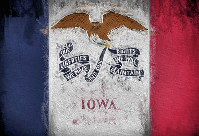 Digital Art - The Iowa Flag by JC Findley