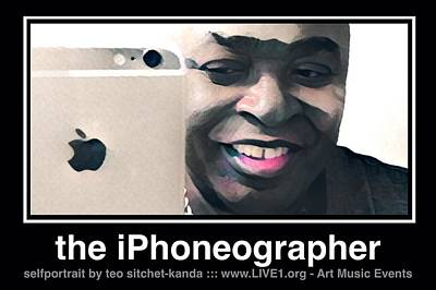 Photograph - the iPhoneographer by Teo SITCHET-KANDA
