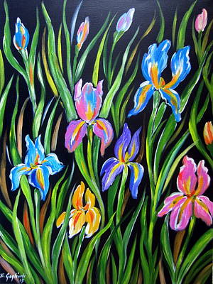 Painting - The Irises by Roberto Gagliardi