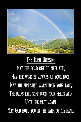 Photograph - The Irish Blessing by James BO  Insogna