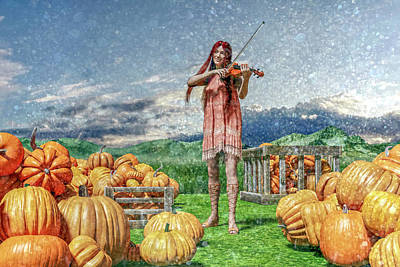 Pumpkin Digital Art - The Irish Pumpkin Harvest by Betsy Knapp